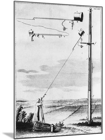 Refracting Telescope Without a Tube, Designed by Christiaan Huyghens C1650--Mounted Giclee Print