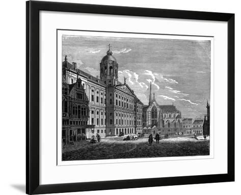 The Palais Royal, Amsterdam, C1890--Framed Art Print