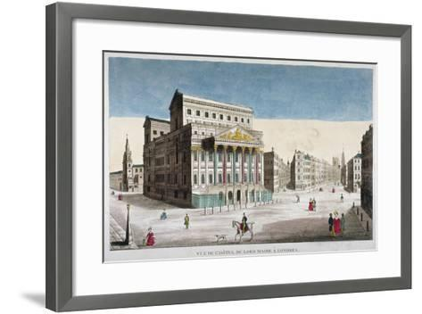 View of Mansion House, Cornhill and Lombard Street, City of London, 1790--Framed Art Print