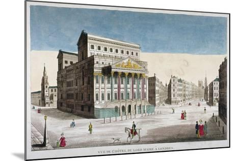 View of Mansion House, Cornhill and Lombard Street, City of London, 1790--Mounted Giclee Print