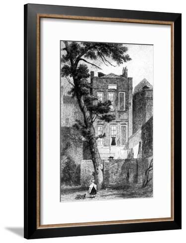 Milton's House in Petty France, Westminster, London, 1923--Framed Art Print