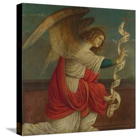 Archangel Gabriel (Panel from an Altarpiece: the Annunciatio), before 1511-Gaudenzio Ferrari-Stretched Canvas Print