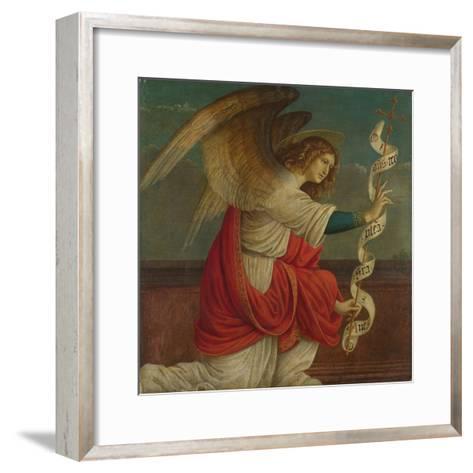 Archangel Gabriel (Panel from an Altarpiece: the Annunciatio), before 1511-Gaudenzio Ferrari-Framed Art Print
