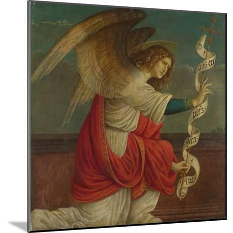 Archangel Gabriel (Panel from an Altarpiece: the Annunciatio), before 1511-Gaudenzio Ferrari-Mounted Giclee Print