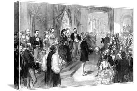 Queen Victoria (1819-190) Opening St Thomas' Hospital, London, 1871--Stretched Canvas Print