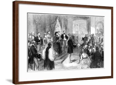 Queen Victoria (1819-190) Opening St Thomas' Hospital, London, 1871--Framed Art Print