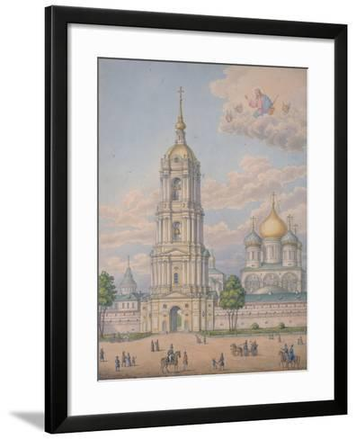 The New Monastery of the Saviour in Moscow, 1851-Alexander Sergeyevich Kutepov-Framed Art Print