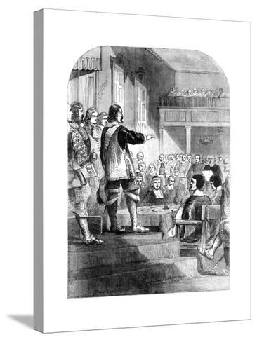 Oliver Cromwell, Refusing to Accept the Crown, C1902--Stretched Canvas Print