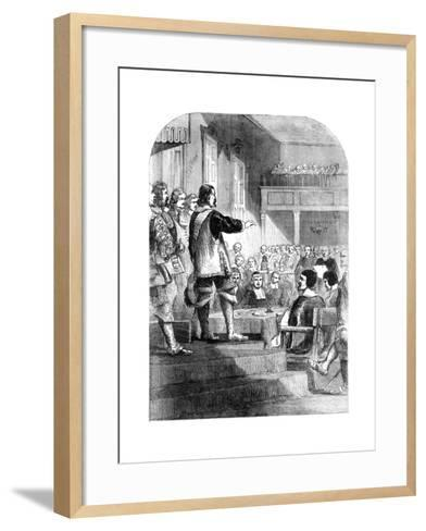 Oliver Cromwell, Refusing to Accept the Crown, C1902--Framed Art Print