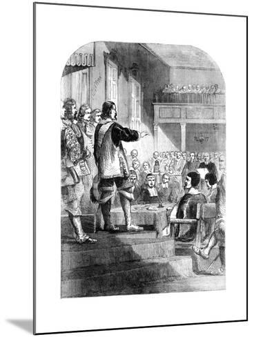 Oliver Cromwell, Refusing to Accept the Crown, C1902--Mounted Giclee Print