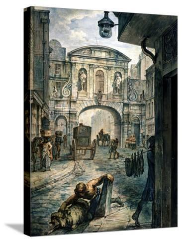 Temple Bar, London, C1800--Stretched Canvas Print