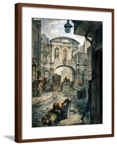 Temple Bar, London, C1800--Framed Art Print