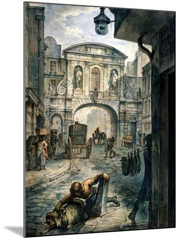 Temple Bar, London, C1800--Mounted Giclee Print