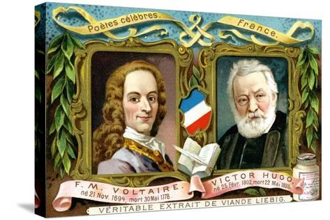 Voltaire and Victor Hugo, C1900--Stretched Canvas Print