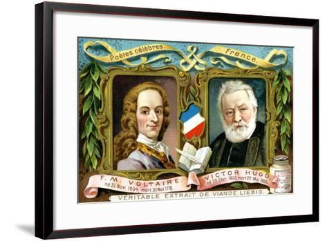 Voltaire and Victor Hugo, C1900--Framed Art Print