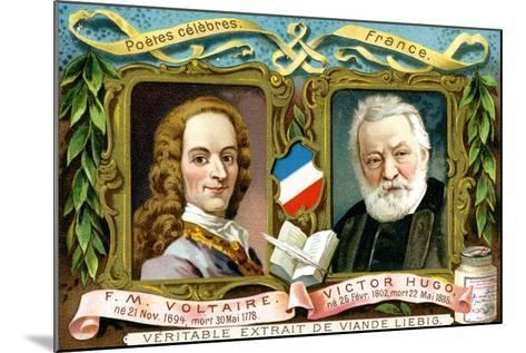 Voltaire and Victor Hugo, C1900--Mounted Giclee Print