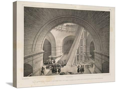Inside View of the Cathedral and a Ramp, 1845-Auguste de Montferrand-Stretched Canvas Print