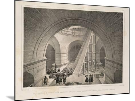 Inside View of the Cathedral and a Ramp, 1845-Auguste de Montferrand-Mounted Giclee Print