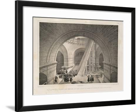 Inside View of the Cathedral and a Ramp, 1845-Auguste de Montferrand-Framed Art Print