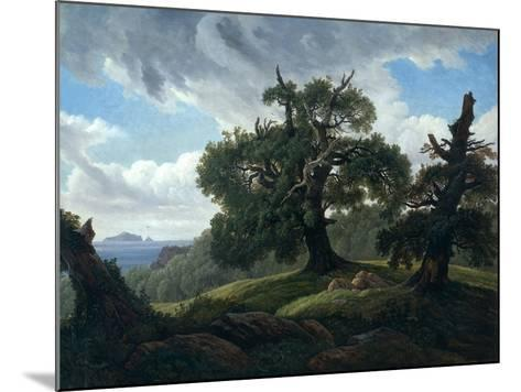 Memory of a Wooded Island in the Baltic Sea (Oak Trees by the Se), 1835-Carl Gustav Carus-Mounted Giclee Print