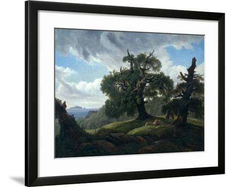 Memory of a Wooded Island in the Baltic Sea (Oak Trees by the Se), 1835-Carl Gustav Carus-Framed Art Print