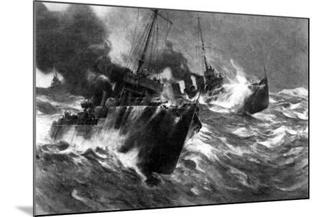 British Torpedo Craft in North Sea Storms, First World War, 1914--Mounted Giclee Print