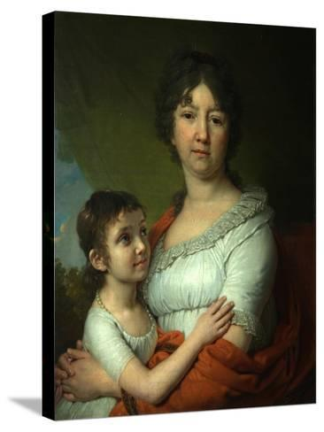 Portrait of A.E. Labzina and Her Foster-Daughter S.A. Mudrova, 1803-Vladimir Lukich Borovikovsky-Stretched Canvas Print
