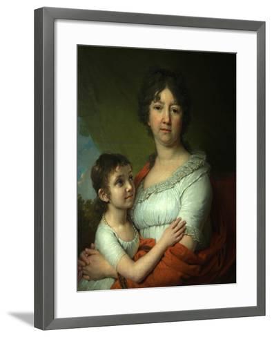 Portrait of A.E. Labzina and Her Foster-Daughter S.A. Mudrova, 1803-Vladimir Lukich Borovikovsky-Framed Art Print
