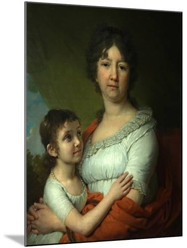 Portrait of A.E. Labzina and Her Foster-Daughter S.A. Mudrova, 1803-Vladimir Lukich Borovikovsky-Mounted Giclee Print