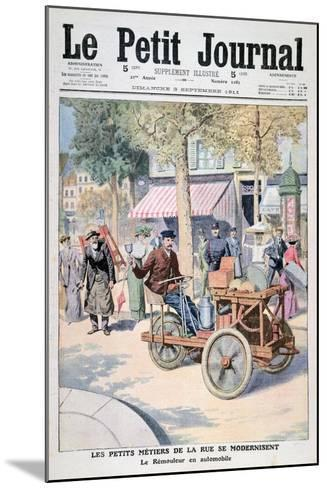The Modernisation of the Street Traders: the Knife-Grinder's Car, 1911--Mounted Giclee Print