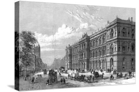The New Home and Colonial Offices, Parliament Street, Westminster, London, 1875--Stretched Canvas Print