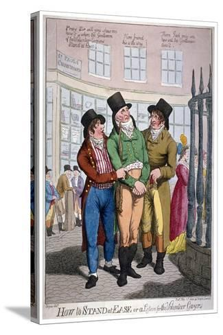 How to Stand at Ease, or a Lesson for the Volunteer Gazers, 1804-C Williams-Stretched Canvas Print