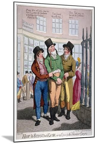 How to Stand at Ease, or a Lesson for the Volunteer Gazers, 1804-C Williams-Mounted Giclee Print