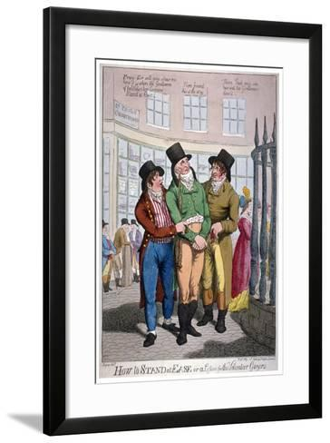 How to Stand at Ease, or a Lesson for the Volunteer Gazers, 1804-C Williams-Framed Art Print