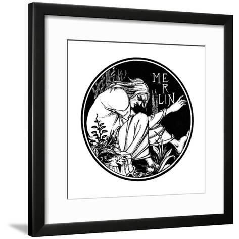 Merlin. Illustration to the Book Le Morte D'Arthur by Sir Thomas Malory, 1893-1894--Framed Art Print
