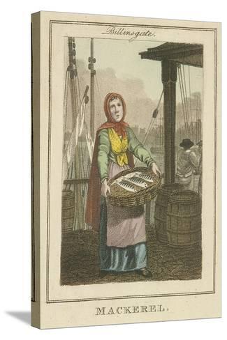 Mackerel , Cries of London, 1804-William Marshall Craig-Stretched Canvas Print