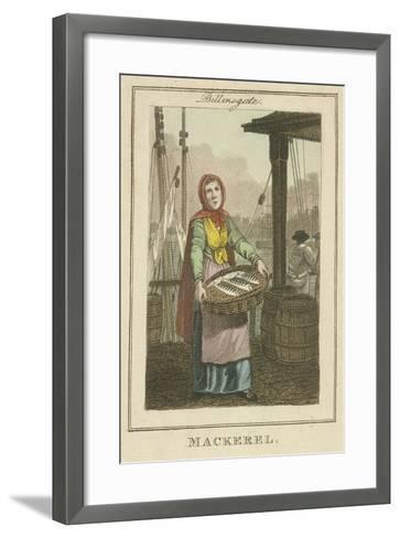 Mackerel , Cries of London, 1804-William Marshall Craig-Framed Art Print