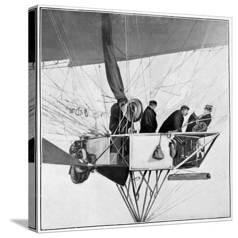 Maurice Berteaux, Minister for the War in the Lebaudy Airship, 3rd November 1905--Stretched Canvas Print