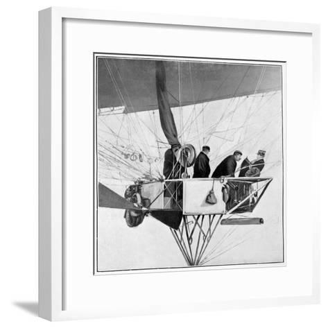 Maurice Berteaux, Minister for the War in the Lebaudy Airship, 3rd November 1905--Framed Art Print