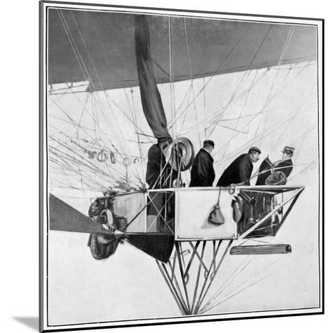 Maurice Berteaux, Minister for the War in the Lebaudy Airship, 3rd November 1905--Mounted Giclee Print