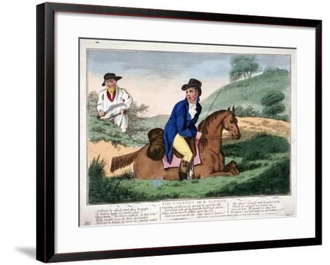 The Cockney in a Slough, 1804--Framed Art Print