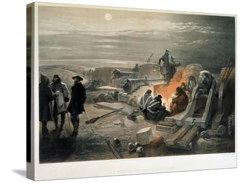 A Quiet Night in the Batteries, 1855-William Simpson-Stretched Canvas Print