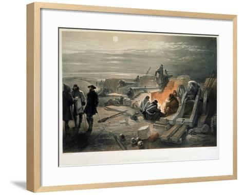 A Quiet Night in the Batteries, 1855-William Simpson-Framed Art Print