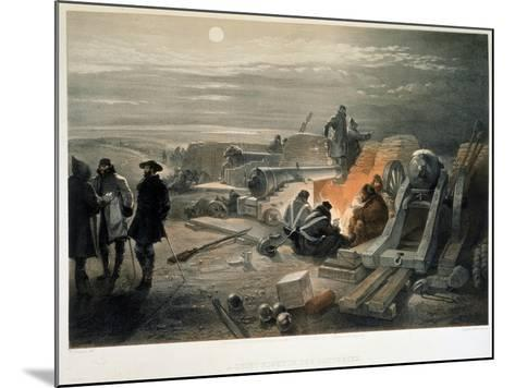 A Quiet Night in the Batteries, 1855-William Simpson-Mounted Giclee Print