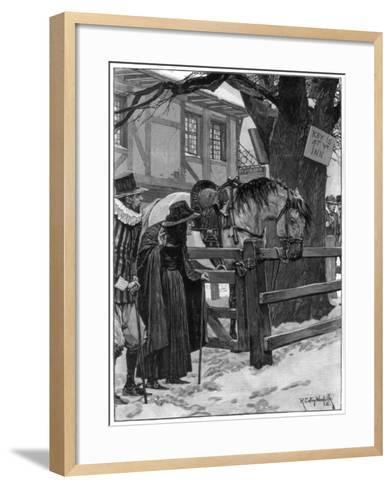 The Lost Trooper's Horse, 1887-Richard Caton Woodville II-Framed Art Print