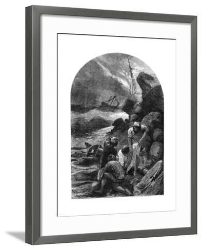 Wreckers Stripping the Body of Sir C Shovel, 1707--Framed Art Print