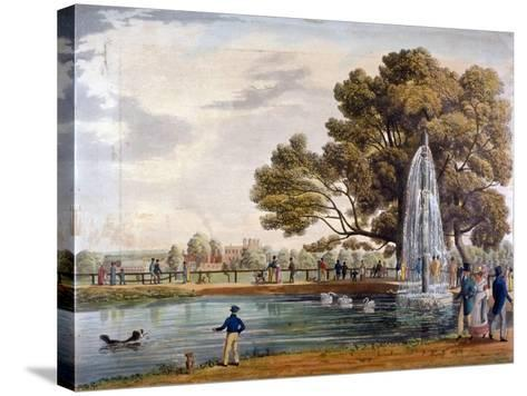 Green Park, Westminster, London, 1826--Stretched Canvas Print