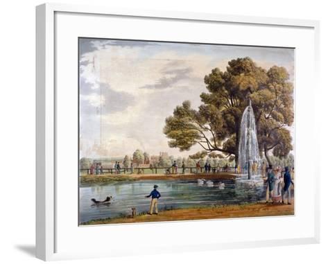 Green Park, Westminster, London, 1826--Framed Art Print