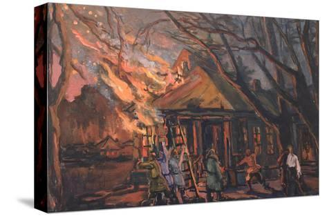 Stage Design for the Opera Dubrovsky by E. Napravnik, 1956-Vera Mikhailovna Zaytseva-Stretched Canvas Print