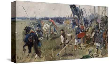 Morning on the Kulikovo Field in 1380 (Stud), 1944-Alexander Pavlovich Bubnov-Stretched Canvas Print